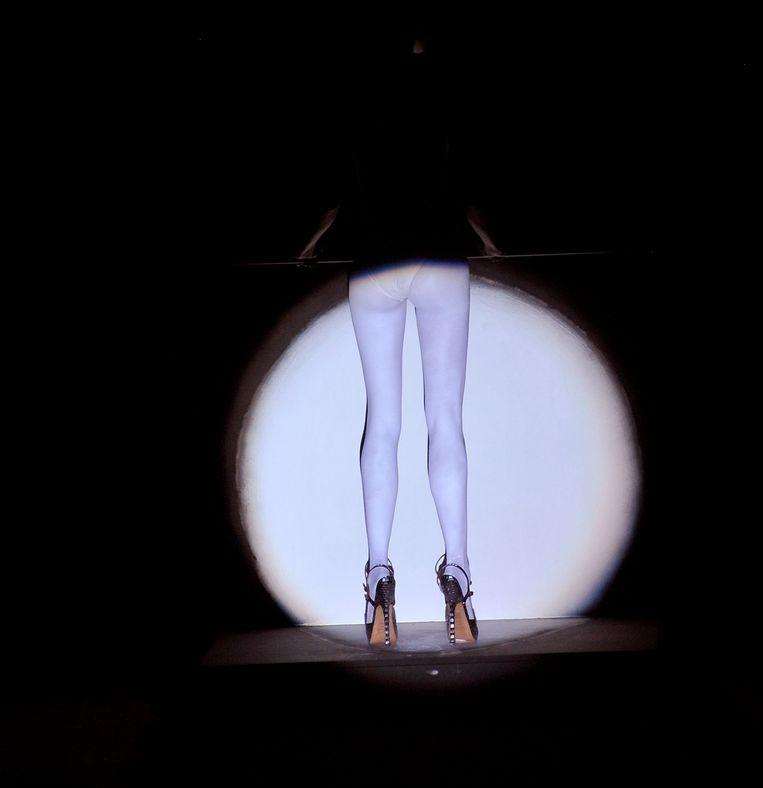 Modeshow van Martin Margiela tijdens Paris Fashion Week in 2008.