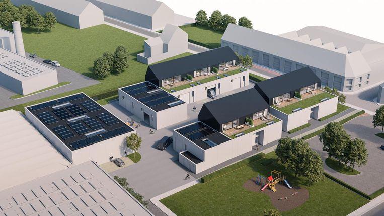 Enkele toekomstbeelden van het hypermoderne project Ateliers Ronse.