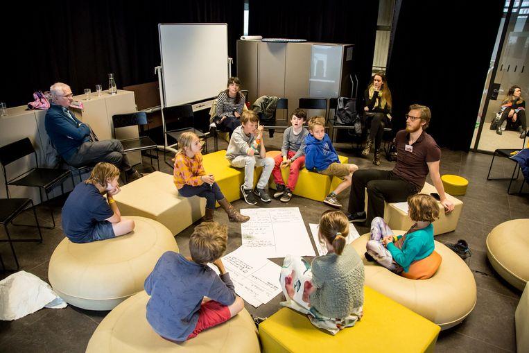 Een kinderworkshop vorig jaar tijdens de Dag van de Filosofie.
