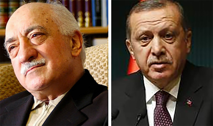 Fethullah Gülen et Recep Tayyip Erdogan (archives)