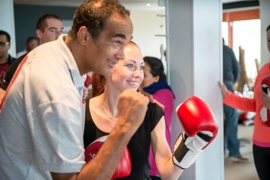 Een boksworkshop tijdens 'The Boostcamp'