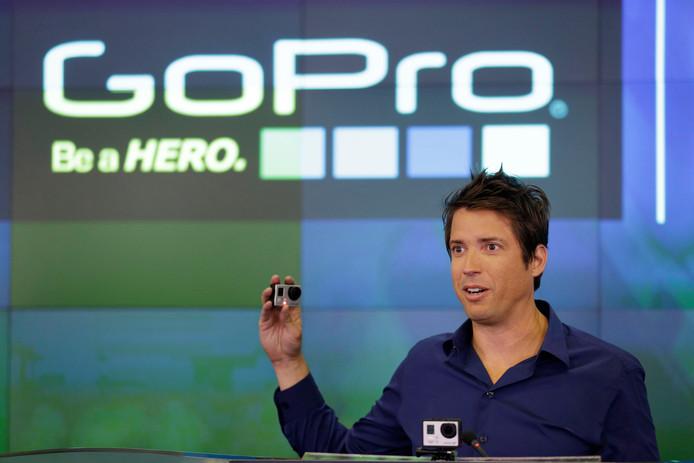 CEO Nick Woodman van GoPro vierde in de zomer van 2014 de beursgang van zijn bedrijf, een stap waarmee hij maximaal 427 miljoen dollar (316 miljoen euro) wilde ophalen.