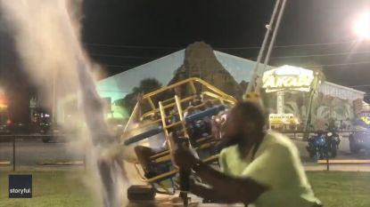 """""""Aan dood ontsnapt"""": kabel van katapult springt vlak voor lancering"""