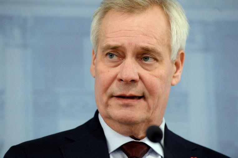 De Finse premier Antti Rinne.