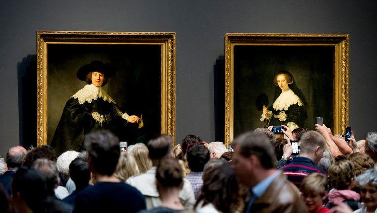 Marten en Oopjen in het Rijksmuseum. Beeld anp