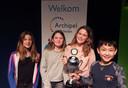 Het winnende team van Het Talent: Evelien de Gaaij, Zoë Drijdijk, Merel van der Schaaf en Emmad Hakimi (vlnr).