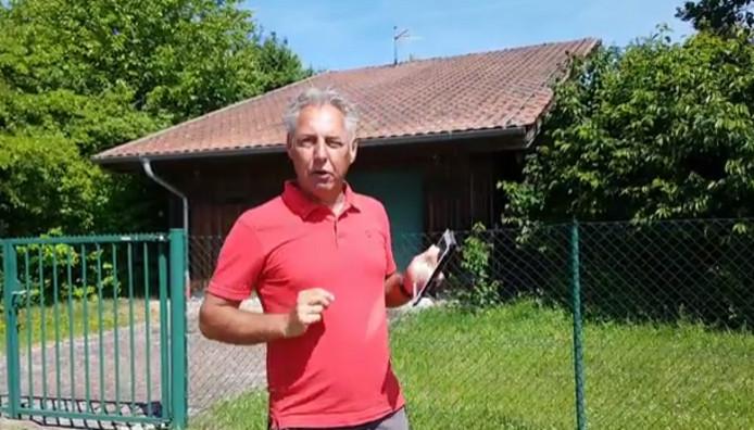 Screenshot van de video met daarin Edwin Wagensveld, voorman van Pegida Nederland.