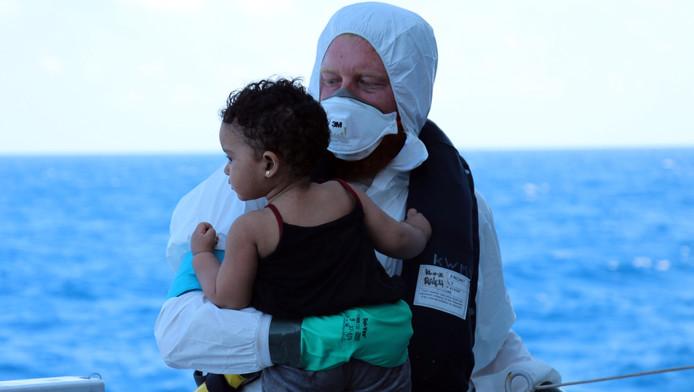 De reddingsactie op de Middellandse Zee.