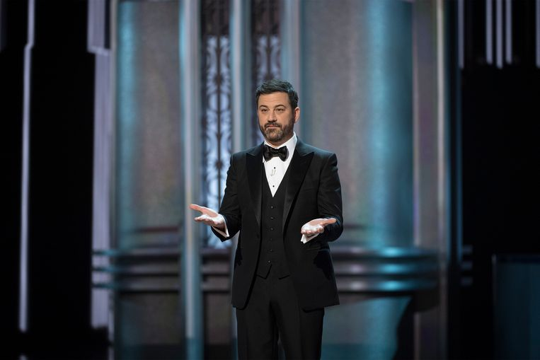 Jimmy Kimmel bij de Oscars in 2017. Beeld Getty Images