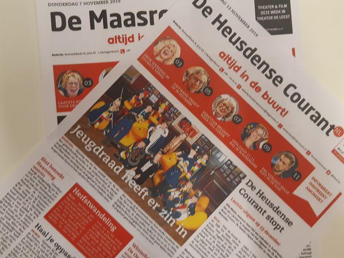 De Heusdense Courant en De Maasroute.