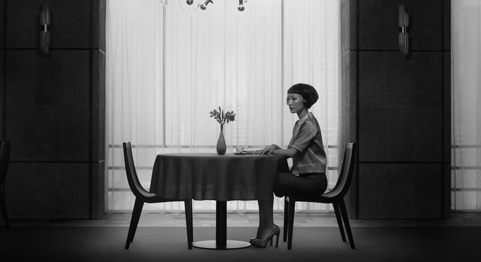 Het werk 'Waiting' van Erwin Olaf.