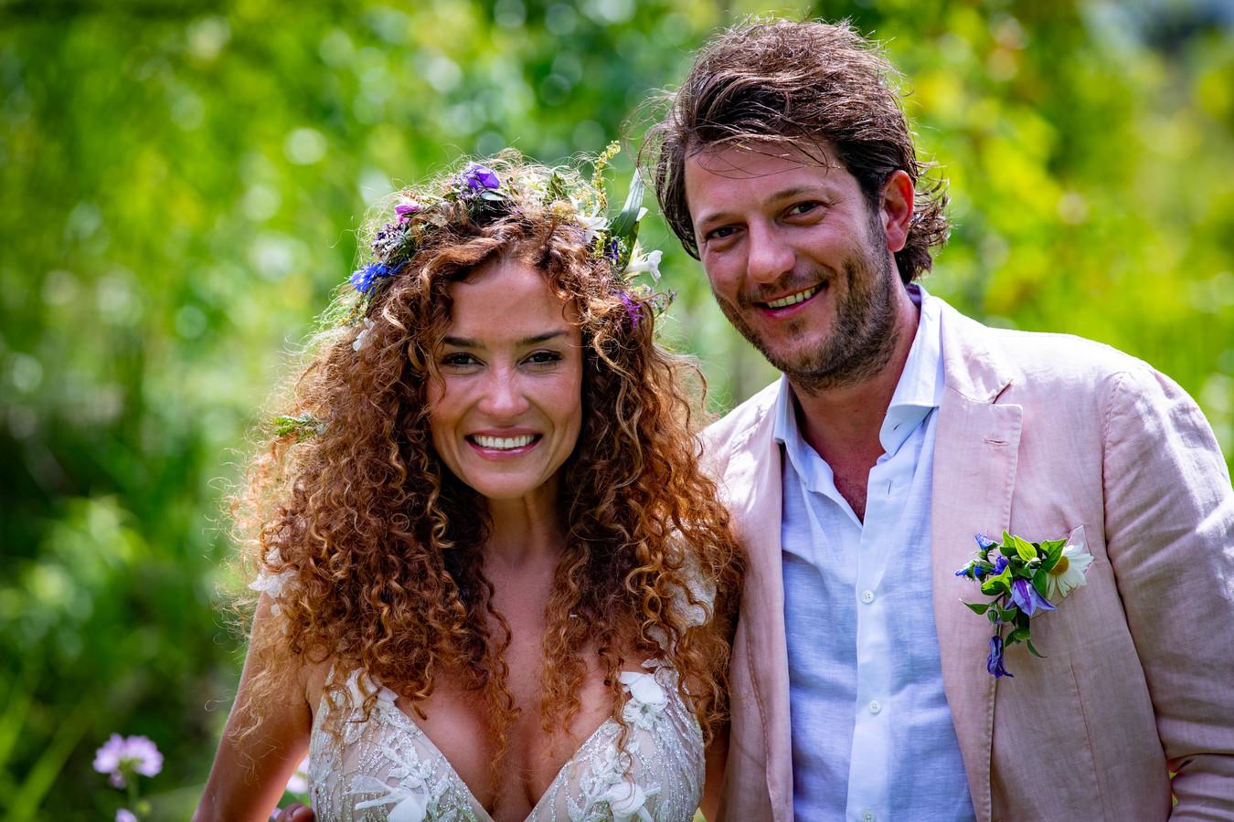 Katja Schuurman en Freek van Noortwijk stapten deze zomer in het huwelijksbootje