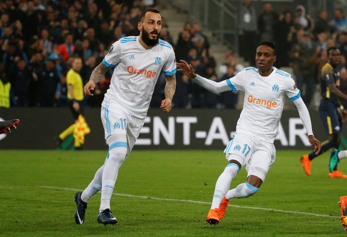 Konstantin Mitroglou in het shirt van Olympique Marseille.