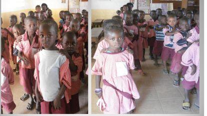 121 'Kerstuniformpjes' voor Gambia