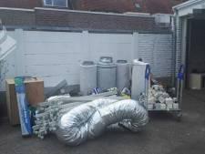 Politie treft in Tilburgse garageboxen goederen voor hennepteelt aan