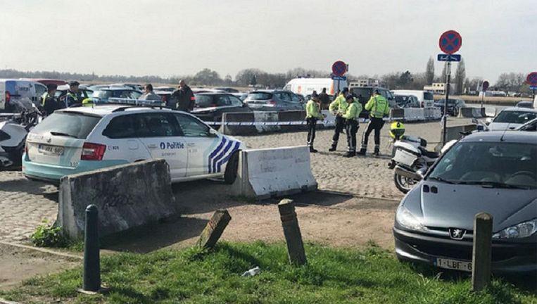 De wagen werd onderschept aan de Scheldekaaien. Beeld ATV