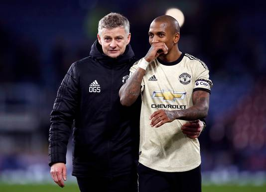 Ole Gunnar Solskjaer en Ashley Young.