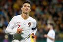 Cristiano Ronaldo is met Portugal nog niet zeker van plaatsing voor het EK 2020.