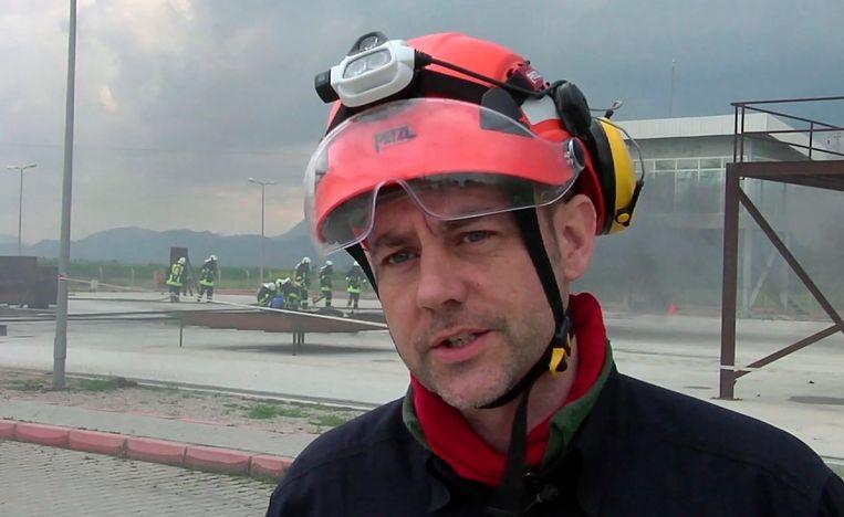 James Le Mesurier tijdens een training in het zuiden van Turkije. Beeld AP