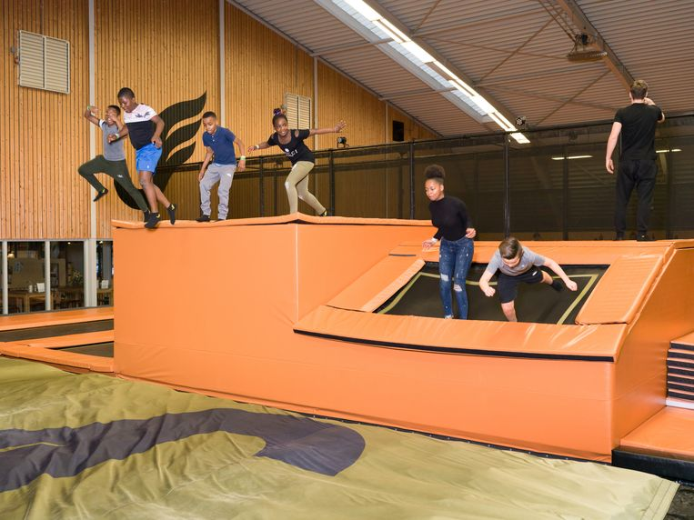 Trampolinepark Jumping Jack in Almere. Beeld Ivo van der Bent