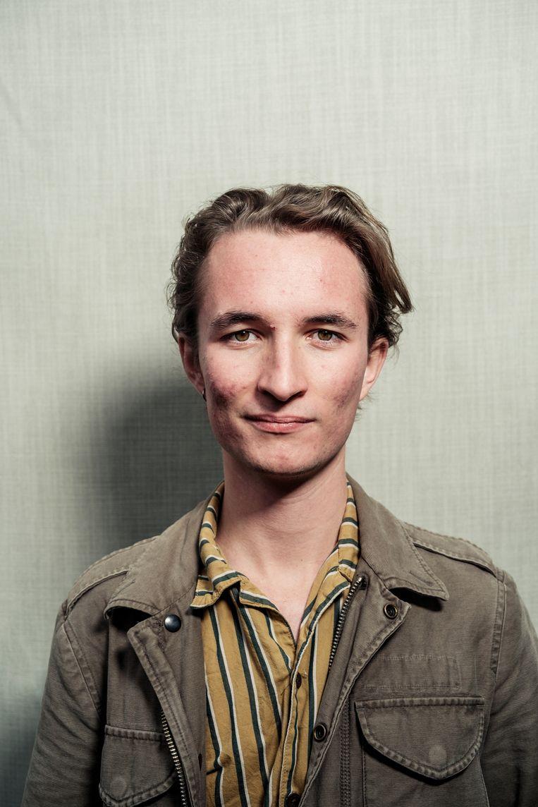 Sjoerd Baerts (21) studeert geschiedenis aan de UvA.  Beeld Jakob Van Vliet