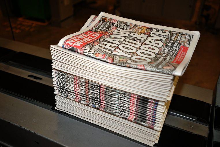 News of the World, de Britse krant die ten onder ging na het afluisterschandaal. Beeld anp
