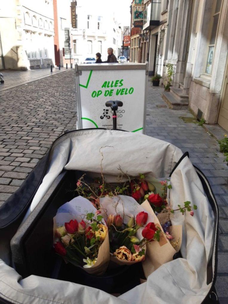 Deze week vervoerde Cargo Velo vooral groenten, fruit, bloemen, schildergerief en broden.