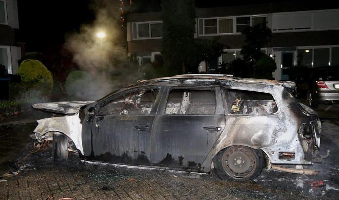 Auto uitgebrand in Den Bosch