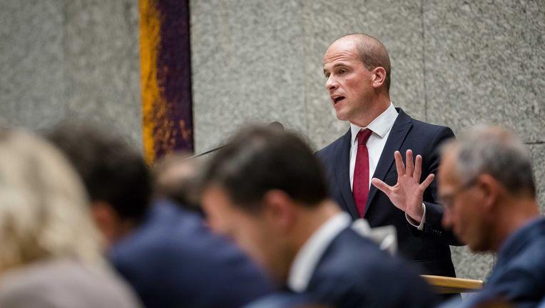 PvdA-leider Samsom haalde vandaag uit tegen coalitiepartner Rutte. Beeld anp