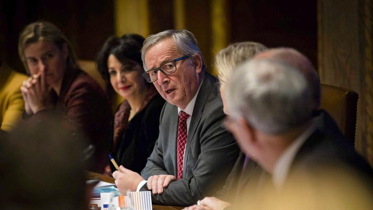 Jean-Claude Juncker deze week in de Eerste Kamer in Den Haag Beeld null