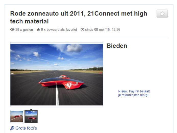 Bod Van 3 5 Ton Op Marktplaats Maakt Twentse Zonneauto Een Van De