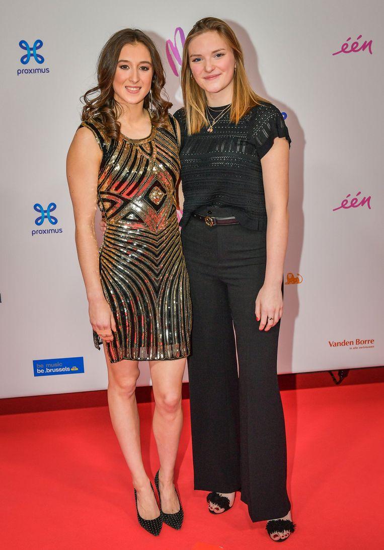 Nina Derwael en een vriendin