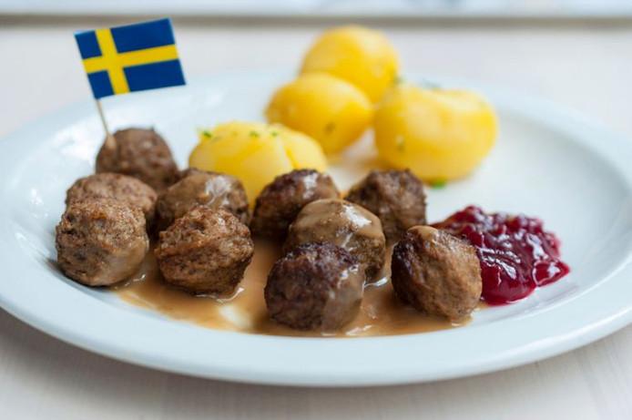Köttbullar, of kleine gehaktballetjes: wereldwijd het bekendste Zweedse gerecht, met dank aan Ikea.