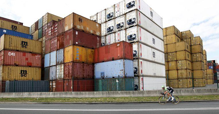 Zeecontainers in de haven van Antwerpen. Beeld Hollandse Hoogte /  ANP
