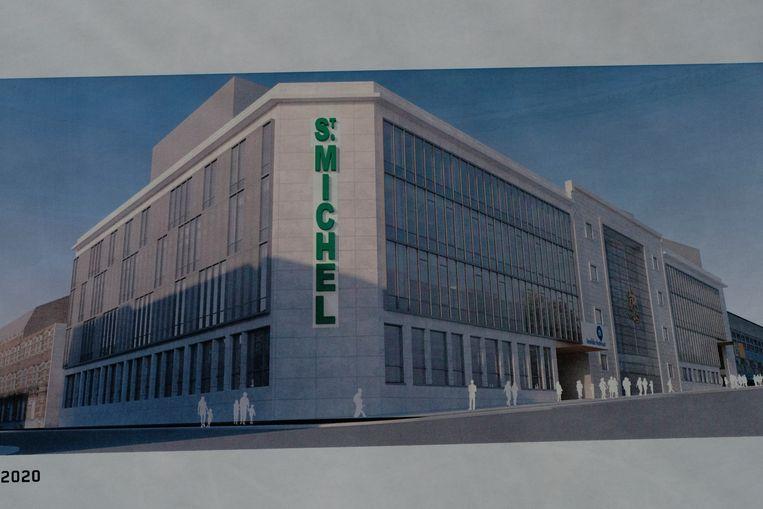 campus St. Michel: 3D beeld van het vernieuwde gebouw.