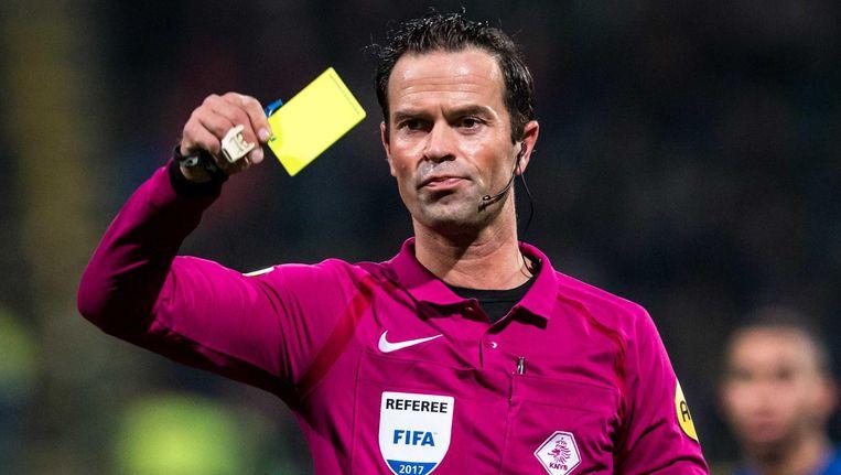 Bas Nijhuis floot dit weekend ADO Den Haag - NEC, een degradatieduel: 'Elk punt onderin is van levensbelang. Dit is een prachtige wedstrijd om te fluiten.' Beeld anp