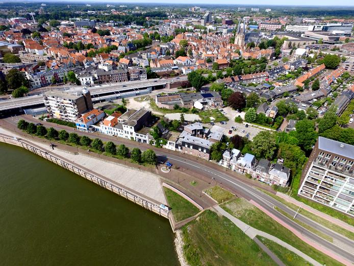 Zo ligt het Pothoofd er nu bij. Een deel van het front aan de IJssel wordt gesloopt.