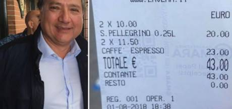 Verbijsterde toerist: '43 euro voor 2 kopjes koffie en 2 watertjes!'