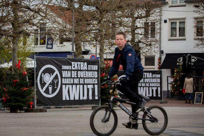 Het horecaprotest in Wijchen.