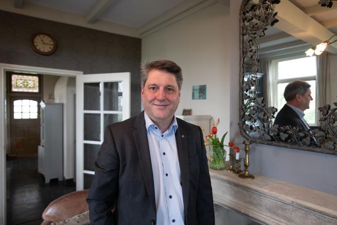 Arjan de Kok, lijsttrekker van Forum voor Democratie in Gelderland. De partij van Thierry Baudet, met acht zetels de grote winnaar in Gelderland, lijkt niet mee te gaan besturen.