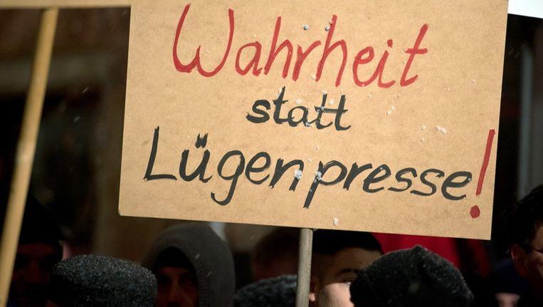 In Duitsland is Lügenpresse inmiddels een gevleugelde uitdrukking onder rechts-populistische politici en hun groeiende aanhang. Beeld