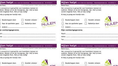 Al 184 vrijwilligers voor #nijlenhelpt, nu ook hulpkaartjes