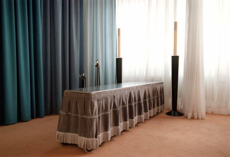 Het mortuarium van het Ruwaard van Puttenziekenhuis in Spijkenisse, dat in 2013 failliet ging. Wat Hans Hoogervorst betreft zouden er 'wel wat meer' ziekenhuizen failliet mogen gaan. Beeld HollandseHoogte