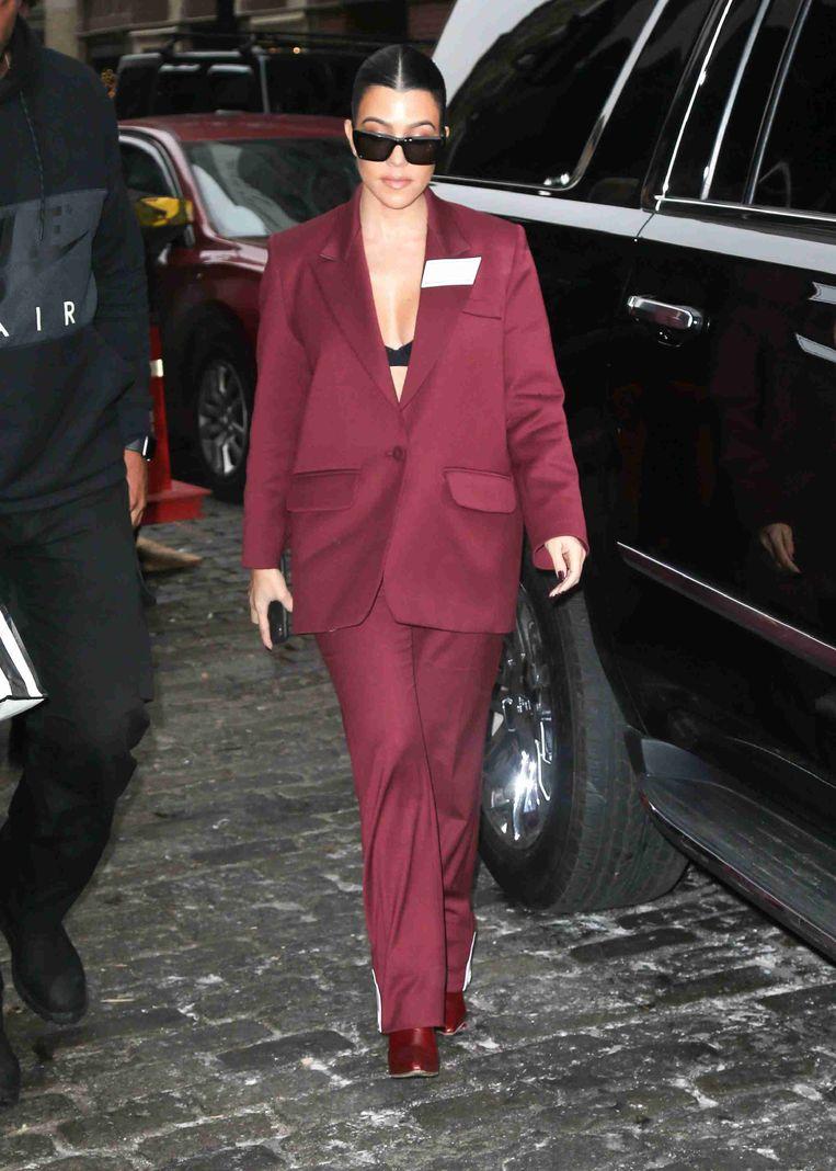 Kourtney Kardashian opnieuw in een pak van Filles A Papa.