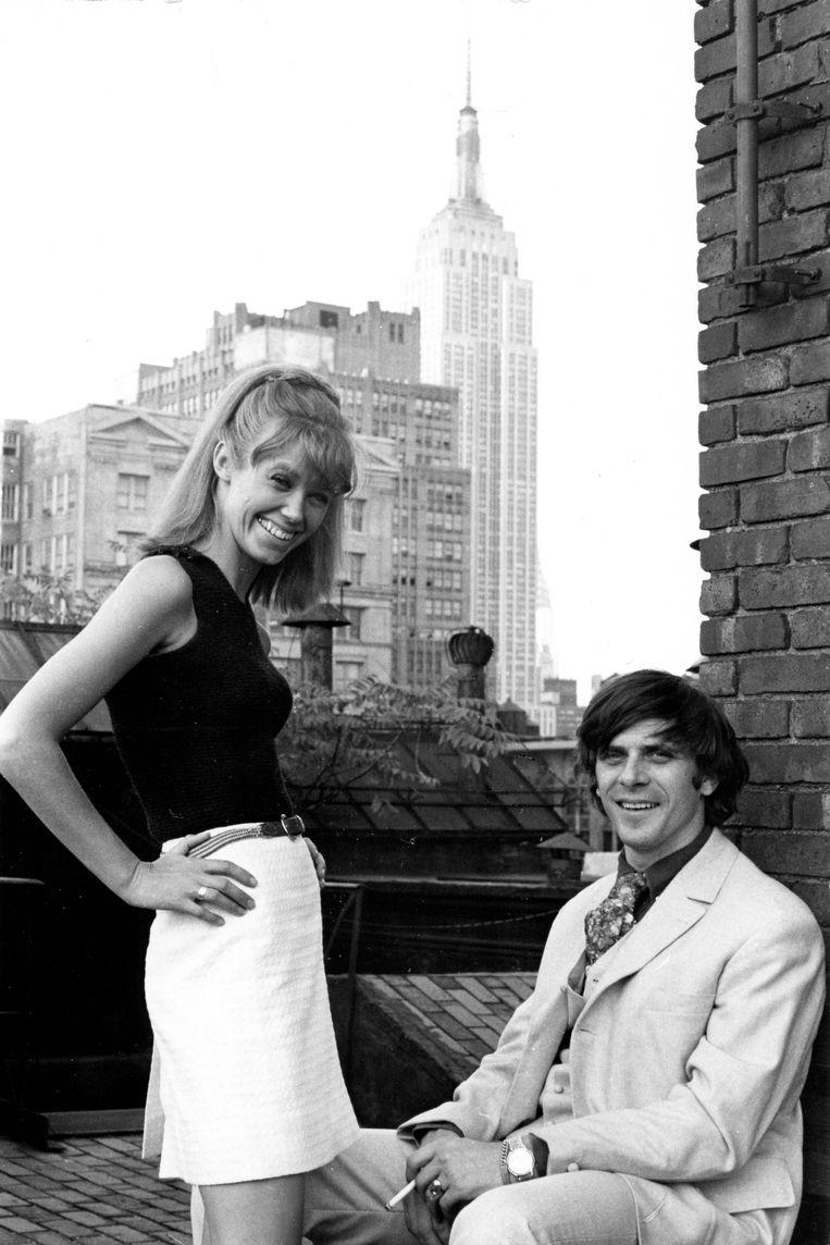 Loesje Hamel en Jan Cremer in New York. Beeld Archief Cremer © JCPCNY (Jan Cremer Photo Collection New York)