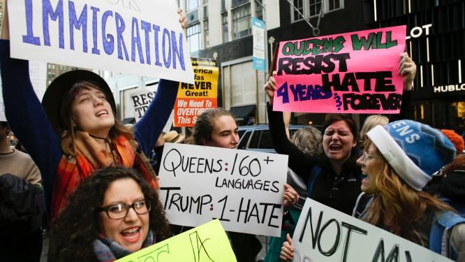 Opnieuw betoging tegen Trump in New York