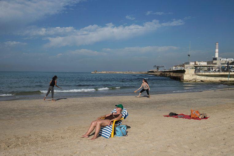Het strand van Tel Aviv
