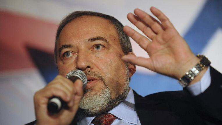 Ex-minister van Buitenlandse Zaken Avigdor Lieberman. Beeld reuters