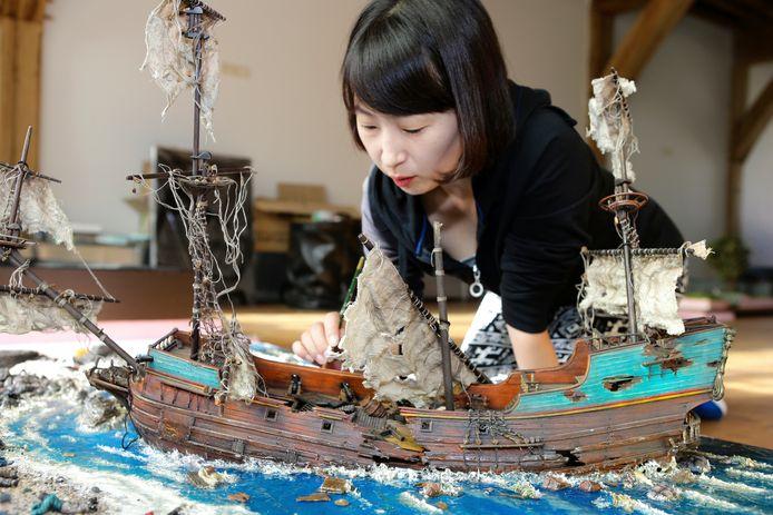 Koreaanse ambachtslieden bouwden destijds voorafgaande aan de opening de maquettes die in het Hendrick Hamel Museum te zien zijn.