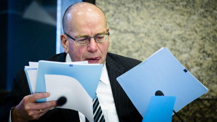 Staatssecretaris Teeven en minister Opstelten van Justitie zijn gisteren afgetreden vanwege de bonnetjes-affaire. Beeld anp